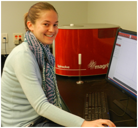 Amy Becker, a 2nd year Imaging Science student at RIT with the Magritek Spinsolve Benchtop NMR